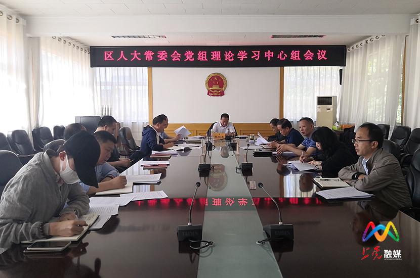 区人大常委会召开党组理论学习中心组会议